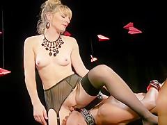 Black slave licking dominatrixs pussy