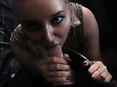 Classic dilettante movie scene of a girlfriend worshiping a bit uncut pecker