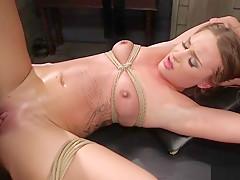 Super hot petite brunette slave training