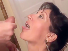 Milf bitch get fucked by huge dick