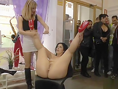 Cheating wife gets piss in public-