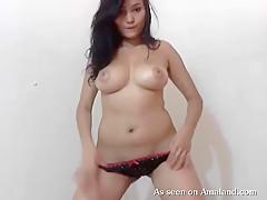 Hispanic Teen Babe's Sexy Striptease On Camera - TheGFNetwork