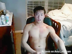 Chinese Dude Rubbing One Off For The Webcam - 429Videos