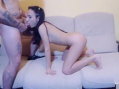 Jennyfer and Tony - Cum AngieDark69 Boobs - Double BlowJob