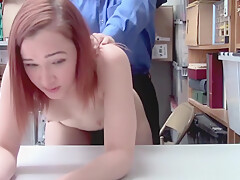 Shoplifter April Reid quite having fun fucking LPs cock