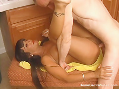 Real amateur MILF with big tits gets fucked in the ass