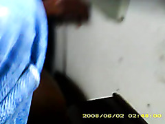 Jerking off in a moving train