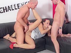 Hardcore threesome with super hot pornstar Mea Melone