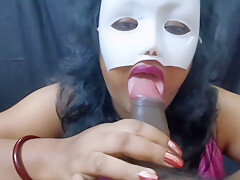 Indian Bhabi Honey Gives Blowjob to Boyfriend with Anal Fuck-