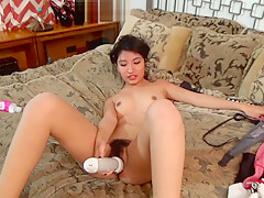 Iris - Outtakes. Very cute girl is a natural at porn.