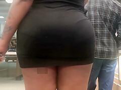 Phat black asses in public