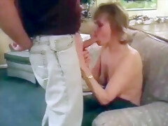 Vintage MIlf Liza sucking cock