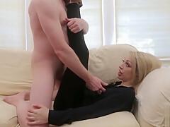 brutal femdom babe humiliates small dick