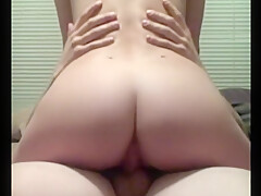 Homemade cowgirl creampie! Demi Sweets first vid!