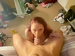 Big Ass Amateur takes Big White Cock Then begs for CUM
