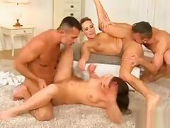 Astonishing xxx movie Group Sex homemade fantastic uncut