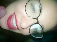 Blowjob to my exboyfriend Eva Autumn Red Lips Face fucking