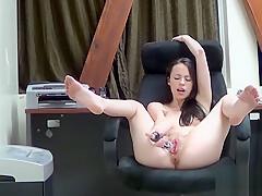 Jerkmate - Skinny Solo Babe Loves Her Glass Dildo