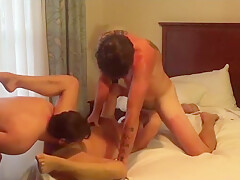 Wife gangbang in hotel with 3 guys
