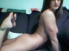 Brunette Webcam Dildo Fun!