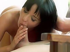 European babe banged and gives a blowjob