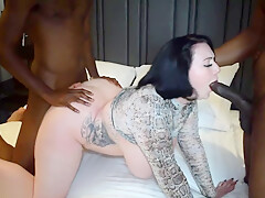 HARMONY REIGNS ATTEMPTS HER 1ST TIME DOUBLE VAGINAL WITH 2 BLACK DICKS-