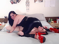 Leather Ass farts Facesitting Lesbian Fart Slave
