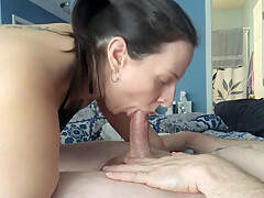 I sucked the cum out of his balls! CIM - Throbbing Oral Creampie