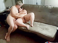 Kiss touch and fuck on the couch