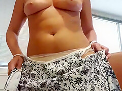 Naughty secretary teases in office and boss disturbs again