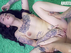 Loika Tattooed Canadian Teen Intense Erotic Pussy Fuck With Hot Stud
