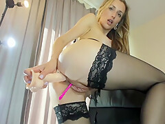 Sexy Anal Babe In Stockings On Webcam Fun By Cannibal1988