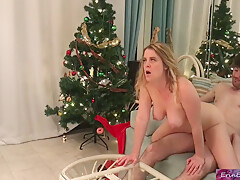 Erin Electra And Matthias Christ In Stepsister Gets A Facial For Christmas From Her Stepbrother