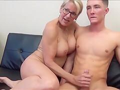 Unreal Sexy 70yo Mature Secretary Having Fun With 19yo Boss
