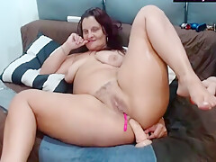Is She Ugly? Anyway She Does Great Dildo Action