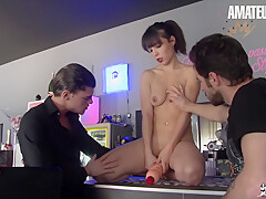 Yasmine Sexy French Milf Gets Her Holes Filled With Big Cocks In Hardcore Group Sex