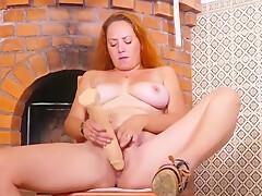 Housewife Natasha Fucks Her Pussy With Big Rubber Cock