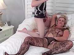 Heather C Payne Giving A Blowjob In A Sexy Black Lingerie