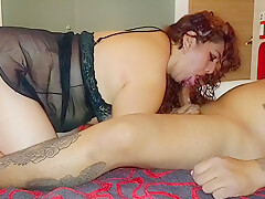 He Chokes On My Cock After Not Seeing Each Other In A While!
