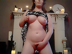 Girl Masterbating In Living Room While Family Is Asleep Upstairs