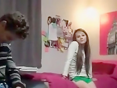 Innocent girl Talked into a Threesome