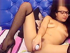 Bespectacled brunette Collegesweet