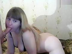 Funny_bunnies: girlfriend sucks dick
