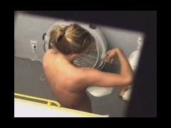 Voyeur naked clip from tanning salon