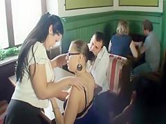 Spermaschlacht im Restaurant