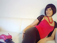 Masturbation on Lacquer Leggins for 1NightInLE