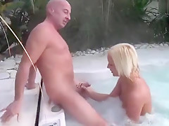 Orgasmus Session am Whirpool
