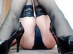 Exotic Amateur clip with Stockings, Webcam scenes