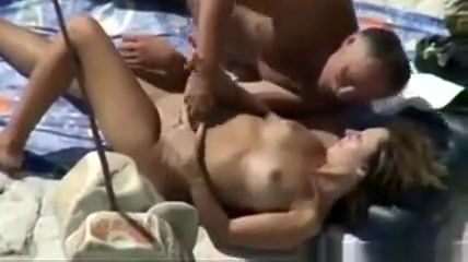 Horny Mature Couple At The Beach
