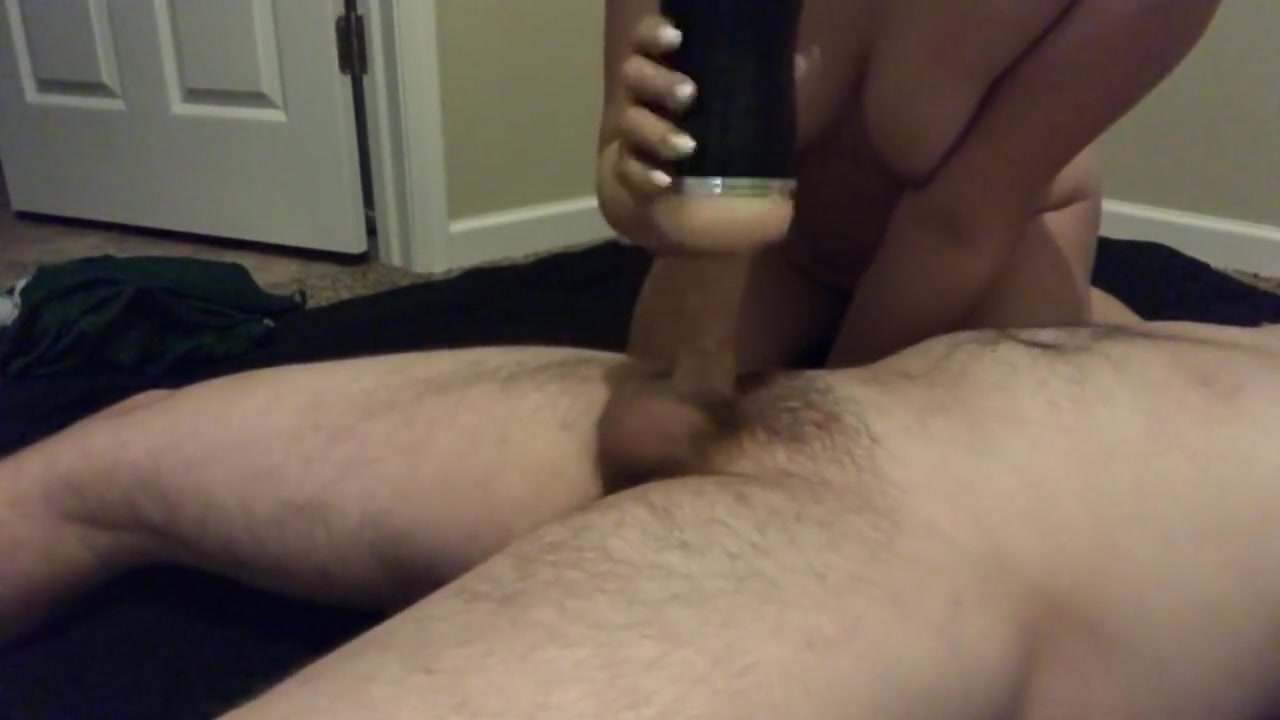 Making Him Cum A Massive Load With A Pocket Pussy After Work